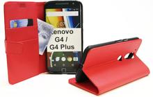 Standcase Wallet Lenovo Motorola Moto G4 / G4 Plus (Röd)