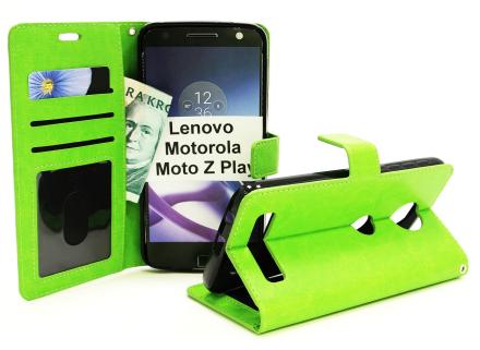 Crazy Horse Wallet Lenovo Motorola Moto Z Play (Grön)