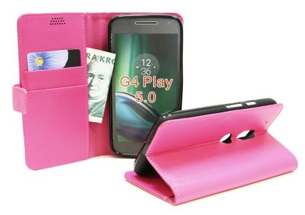 Standcase Wallet Lenovo Motorola Moto G4 Play (Hotpink)
