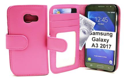 Plånboksfodral Samsung Galaxy A3 2017 (A320F) (Hotpink)
