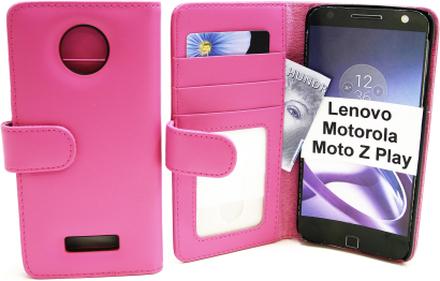 Plånboksfodral Lenovo Motorola Moto Z Play (Hotpink)