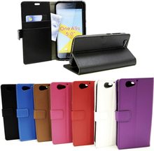 Standcase Wallet HTC One A9s (Svart)