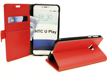 Standcase Wallet HTC U Play (Röd)