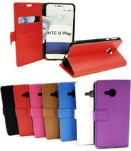 Standcase Wallet HTC U Play (Svart)
