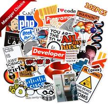 100 pcs Internet Programming stickers for Laptop Programer science JS Php C Language Cloud Docker Developer sticker