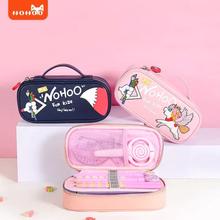 NOHOO School Pencil Case For Boys Girls Cartoon Unicorn Lager Capacity Waterproof Kawaii School Supplies 8-Color cosmetic bag