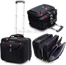 """Cabin Rolling Luggage 18"""" inch Travel Suitcase Multifunction Business box Carry Ons Laptop Bag Trolley Case for Men and Women"""