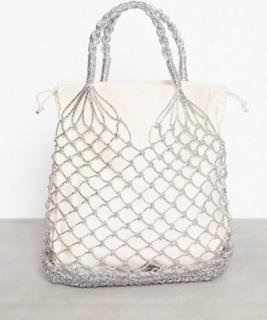 Topshop Woven Shopper Bag Håndtaske Sølv