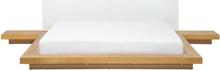 Japanilaistyylinen sänky vaaleanruskea 180 x 200 cm ZEN