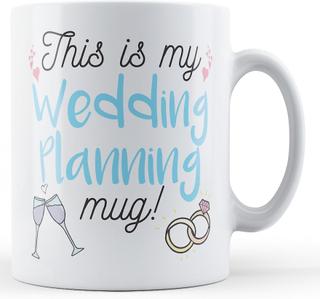 Finger Prints Detta är min bröllop planering mugg! -Tryckt mugg