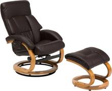 Hierova nojatuoli ruskea FORCE
