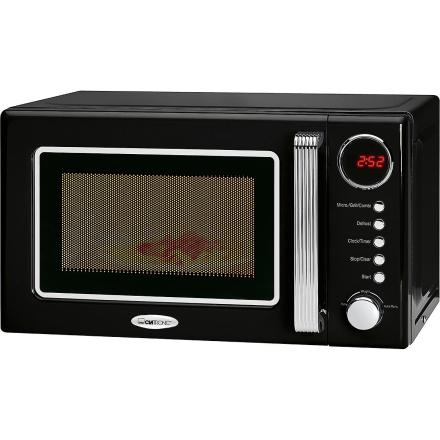 Clatronic mikroovn med grill retro 20 liter MWG 790 sort