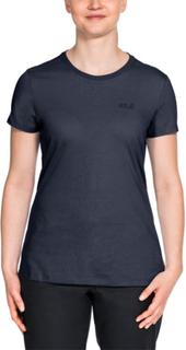 Jack Wolfskin Essential T Women Dame kortermede trøyer Blå L