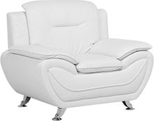 Nojatuoli keinonahkainen valkoinen LEIRA