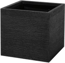 Kukkaruukku musta 40x40x38 cm PAROS