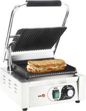 vidaXL rillet panini-grill rustfrit stål 1800 W 32 x 41 x 19 cm