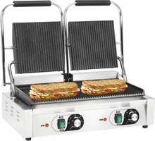 vidaXL dobbeltrillet panini-grill 3600 W 58 x 41 x 19 cm