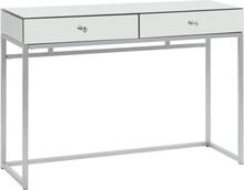 vidaXL Konsolbord med spegel stål och glas 107x33x77 cm