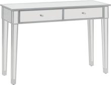 vidaXL Konsolbord spegel MDF och glas 106,5x38x76,5 cm