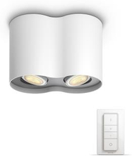 Philips Hue - Pillar - Dual Spot - With remote - White Ambiance
