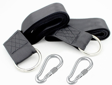 Drew Gear Tree Swing Hanging Kit   Two 5ft long strap,2 Stainless Steel Locking Carabiners and 1 Swivel Ring Hammocks and Swings
