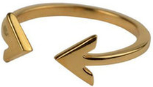 Strict plain double arrow ring, ONE SIZE
