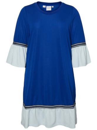 JUNAROSE Peplum Dress Women Blue