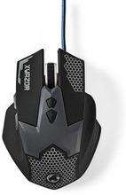 Nedis gaming mus | Trådanslutning | Belyst | 2400 DPI | 7 knappar