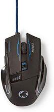 Nedis gaming mus | Trådanslutning | Belyst | 4000 DPI | 8 knappar