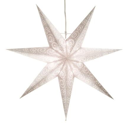 Antique joulutähti 60 cm valkoinen