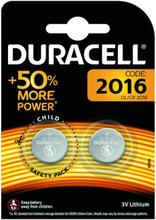 Duracell Litiumbatteri CR2016 2-pack