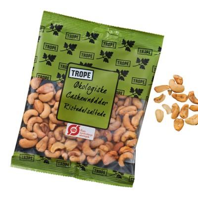 Trope Paahdettu & Suolattu cashewpähkinä Luomu 90 g
