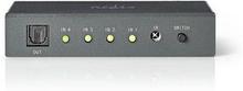 Nedis Optisk audioswitch | 4-port - 4x TosLink-ingång | 1x TosLink-utgång