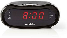 Nedis Digital klockradio | 0.6-tums LED | FM