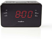 Nedis Digital klockradio | 0.9-tums LED | FM