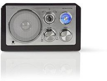 Nedis FM-radio | 9 W | Analog mottagning | Retrodesign | Svart