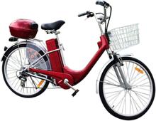 "Elektrisk sykkel 250W 26"" - Fran City - rød"