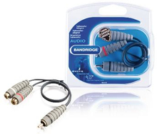 Bandridge Subwoofer Audiokabel RCA hane - 2x RCA Hona 0.20 m Blå