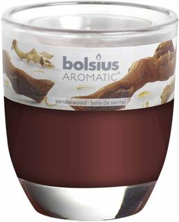 Bolsius duftlys 6 stk. sandeltræ brun 103626150323
