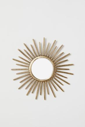 H & M - Pyöreä peili - Kulta