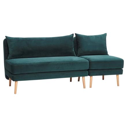 Hübsch Sofa m/ Stol Grønn