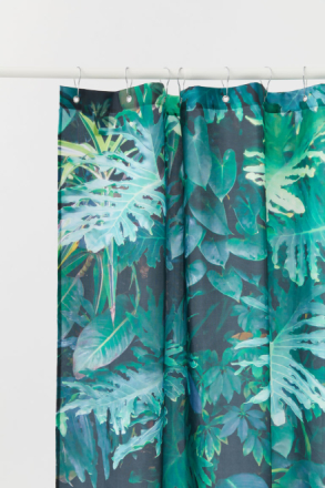 H & M - Kuviollinen suihkuverho - Vihreä