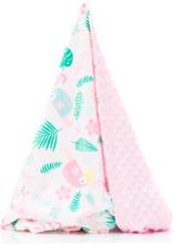 fillikid Pehmeä viltti Tropic 75x120cm vaaleanRED - roosa/pinkki