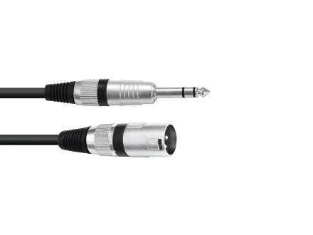 Omnitronic XLR(han)-jack(stereo)-kabel 5 meter