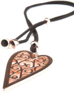 VÅGA smycken, halsband hjärta rose