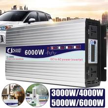 Intelligent Screen Pure Sine Wave Power Inverter 12V/24V To 220V 3000W/4000W/5000W/6000W Converter