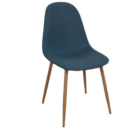 Laura blå spisebordsstole - Polstret
