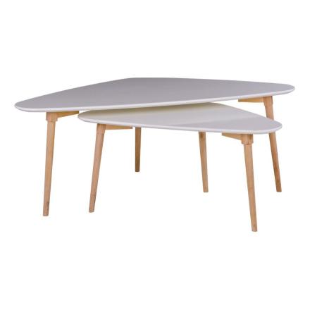 hvidt ovalt sofabord sæt