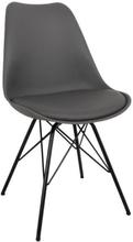 Comfort spisebordsstole grå