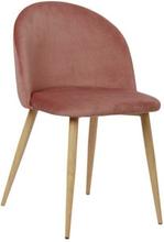Nellie - Polstret rosa velour stol